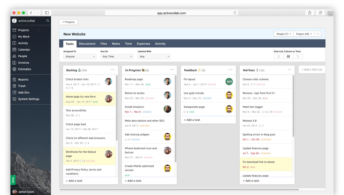 Activecollab activecollab – software for projects