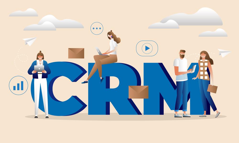 A CRM concept illustration